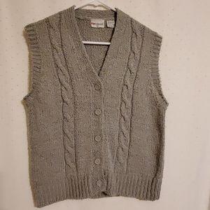 Vintage | Gray Knit Sweater Vest